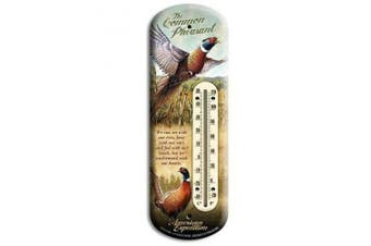 American Expedition Pheasant Tin Back Porch Thermometer BTHM-126