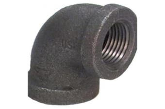 Anvil International 8700123857 1. 60cm Malleable Iron Pipe Fitting Black 90 Degree Elbow