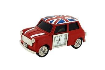 Miniature Union Jack British Red Mini Cooper Novelty Collectors Clock 0445