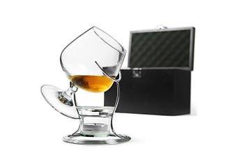 Deluxe Cognac & Brandy Warmer Set including Brandy Glass, Brandy Warmer Stand, Tealight & Tealight Holder | bar@drinkstuff | - Balloon Glass, Snifter Glass for Brandy, Cognac, Armagnac or Calvados