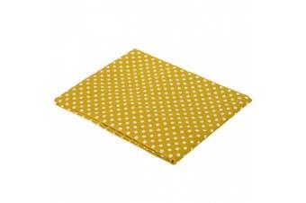 Yellow Pin Dots Crib Fitted Sheet