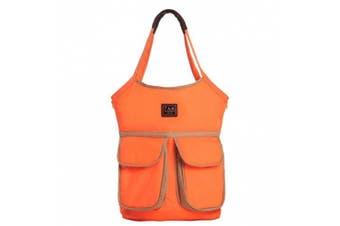 7AM Enfant Barcelona Nappy Bag, Neon Orange