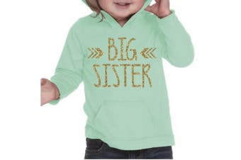 (3T, Ice Green) - Big Sister Shirt, Baby Girl Clothes, Pregnancy Announcement (3T, Ice Green)