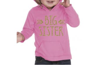 (4T, Hot Pink) - Big Sister Shirt, Baby Girl Clothes, Pregnancy Announcement (4T, Hot Pink)
