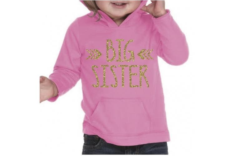 (18 Months, Hot Pink) - Big Sister Shirt, Baby Girl Clothes, Pregnancy Announcement (18 Months, Hot Pink)