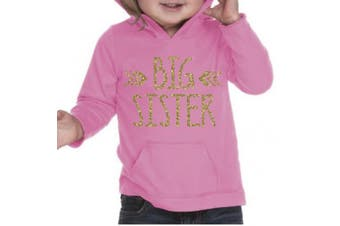 (24 Months, Hot Pink) - Big Sister Shirt, Baby Girl Clothes, Pregnancy Announcement (24 Months, Hot Pink)
