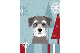 Winter Holiday Schnauzer Flag Canvas House Size BB1702CHF