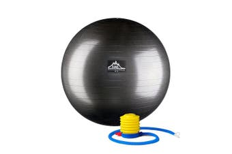 (65cm, Black) - Black Mountain Products Professional Grade Stability Ball 450kg Anti-Burst 450kg Static Weight Rated