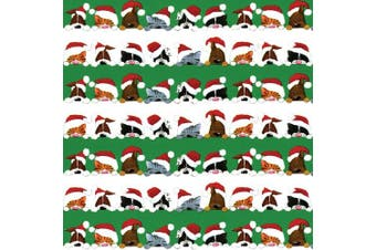(Christmas Peek-a-boo) - Entertaining with Caspari Continuous Roll of Gift Wrapping Paper, Christmas Peek A Boo, 2.4m, 1-Roll