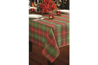 (150cm  by 300cm , Red/Green) - Benson Mills Christmas Plaid Printed Tablecloth, 150cm by 300cm