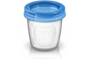 (transparent, blau, 1800ml) - Philips Avent Reusable Breast Milk Storage Cups (10 x 180 ml)