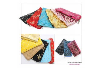 72 х COSMETIC BAGS PURSE WALLET DIFFERENT STYLES 13.5 x 7.5cm WHOLESALE UK