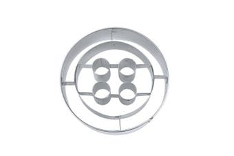 (5 cm) - Staedter Embossing Button Shape Cookie Cutter, 5 cm, Stainless Steel, Silver
