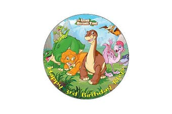 7.5 Land Before Time Edible Icing Birthday Cake Topper Dinosaurs
