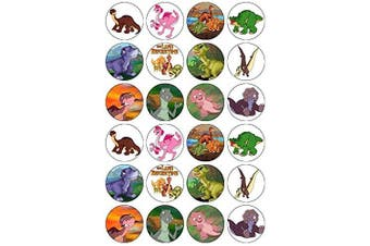 24 The Land Before Time Dinosaurs Edible Wafer Paper Cup Cake Toppers