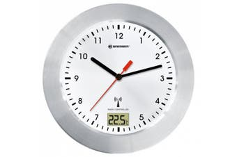 """(White) - Bresser 8020114 Radio Controlled Clock """"MyTime Bath"""" with Temperature Display - White"""