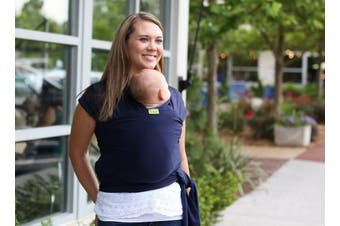 (Navy Blue) - Boba Baby Wrap Carrier, Navy Blue - The Original Child and Newborn Sling, Perfect for Infants and Babies Up to 16kg (0 - 36 months)