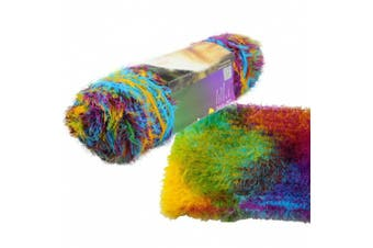 (Multi-colored) - Celine lin One Skein Long-haired Fluffy Mink Cashmere Knitting Yarn,Multi-coloured