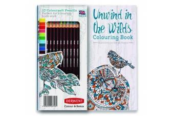 (Book & Pencils) - Adult Colouring Book and Colorsoft Pencils