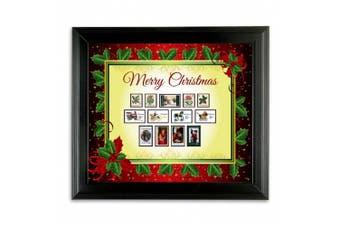 American Coin Treasures Kids - Framed Vintage Christmas Stamps