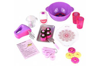 (Baking Set Play Set) - Click n' Play Doll Baking Set with Apron and Baking Utensil Accessories, Perfect For 46cm American Girl Dolls