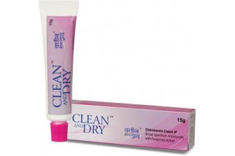 Clean & Dry Intimate Cream Feminine Hygiene Vaginal 15gm