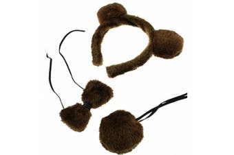 Brown Bear Animal Set,Instant Animal Dress Up Set Fancy Dress Animal Set Ears Tail Dress Up Instant Kit Animal Costume Accessory