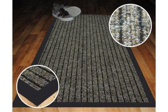 (50X80cm) - High Quality Beige Ribbed Mats Small Large Size Heavy Duty Mat Rubber Back PVC Barrier Doormats (50X80cm)