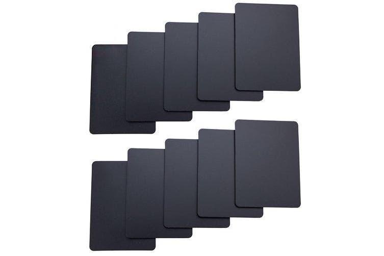 (Black) - Brybelly Lot of 10 Poker Size Cut Cards (Black)