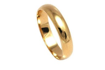 (M) - Ah! Jewellery. Gold Filled 5mm Wide Wedding Band Outstanding Quality