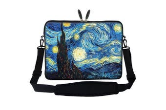 (The Starring Night) - Meffort Inc 17 44cm Neoprene Laptop Sleeve Bag Carrying Case with Hidden Handle and Adjustable Shoulder Strap - The Starring Night