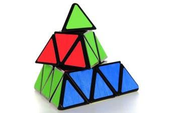 (Black) - Coolzon Triangle Pyramid Pyraminx Magic Cube Speed Puzzle Twist Toy Game Education, Black