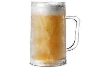 Frosty Mug 14.1oz / 400ml by bar@drinkstuff | Plastic Freezer Mug, Beer Mug, Beer Stein, Beer Tankard | Freezable Beer Tankard