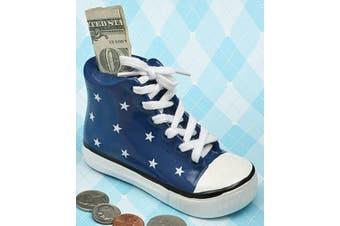 Fashioncraft Blue Ceramic Sneaker Bank