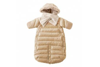 (Large, Beige) - 7AM Enfant Doudoune One Piece Infant Snowsuit Bunting, Beige, Large