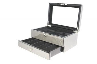 (Cheating heart) - Decorebay top Collection Carbon Fibre Pattern Watch and jewellery Storage Box