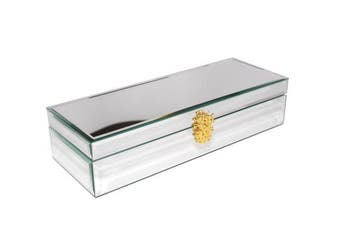 (sliver) - Decorebay Handmade classic watch Box and jewellery box for with Glass finish (glass)