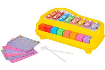 8 Keys Children Toy Happy Xylophone Organ Marimba attached 6 Pieces of Scores