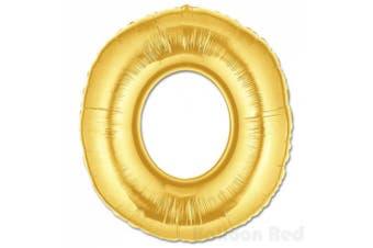 (100cm  Matte Gold, Letter O) - 100cm Helium Foil Mylar Balloons (Premium Quality), Matte Gold, Letter O