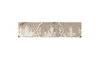 (White) - Heritage Lace Silent Night 50cm by 230cm White Mantle Scarf