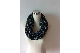 (black/white quatrefoil) - Two-Sided Infinity Nursing Scarf & Cover for Breastfeeding Babies & Mothers. Softest, Most Stylish Way to Nurse Your Baby in Total Privacy. Premium Quality Nursing Cover Fits Plus-Sized Moms,Too
