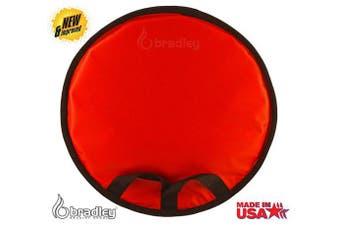 "(24"" Red Saucer) - Bradley Kid's Flexible Snow Saucer - Padded Insert | Magic Carpet Roll-Up Sled"
