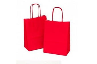 x10 Small - Red Gift Bags - Birthday Party Paper Loot Bag * 15x20x8cm