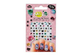 NPW Cat Crazy Nail Art Stickers, Multicolor