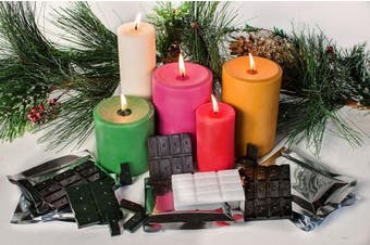 Candlewic Christmas Colours Candle Dye Assortment Pack, Mauve/Red/Kelly Green/Gold & White