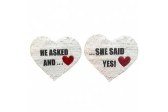 He Asked And She Said Yes Heart Pinata