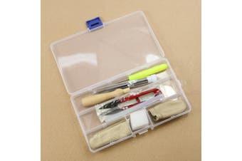 (White) - Estone 1set Needle Felting Starter Kit Wool Felt Tools Mat + Needle + storage box Accessories Craft