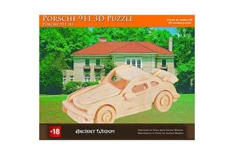 (Porsche 911) - Porsche 911 - 3D Wooden Puzzle