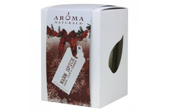 (Orange, Clove & Cinnamon) - Aroma Naturals Peace Ruby Holiday Soy Square Glass Candle, Orange, Clove and Cinnamon, 200ml