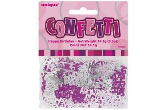 (Pink, Happy Birthday) - Unique Party Glitz Foil Birthday Confetti (Pink)